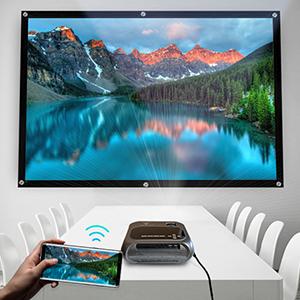 wireless screen mirroring mini projector video player hd portable outdoor indoor LumaVision