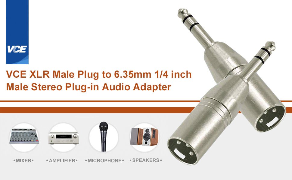 xlr to 6.35mm connector