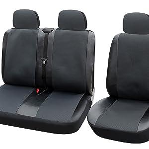 Sitzbezüge Schonbezüge SET QE Nissan Cabstar Kunstleder schwarz