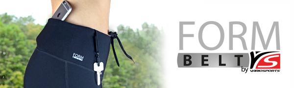 variosports formbelt laufhose yoga wandern fitness leggings smartphone handy tasche bund