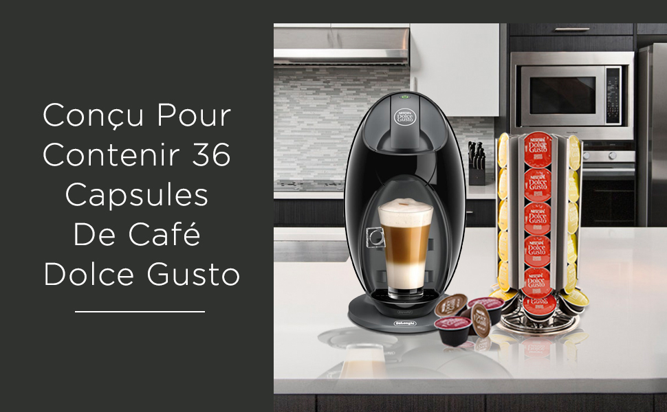 Coffee pod holder is designed to hold 36 Dolce Gusto Coffee Pods