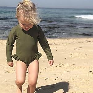 little girl swimsuit long sleeve