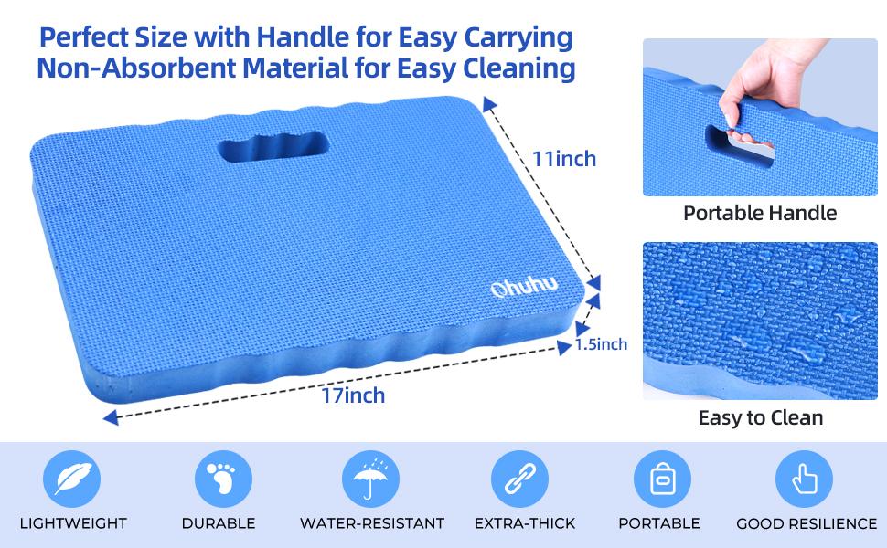 Ohuhu Premium Thick Kneeling Pad Large Comfortable Gardening Knee Pad Kneeling Mat