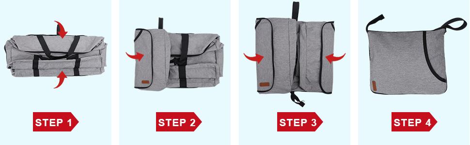 Vogshow travel foldable duffle bag