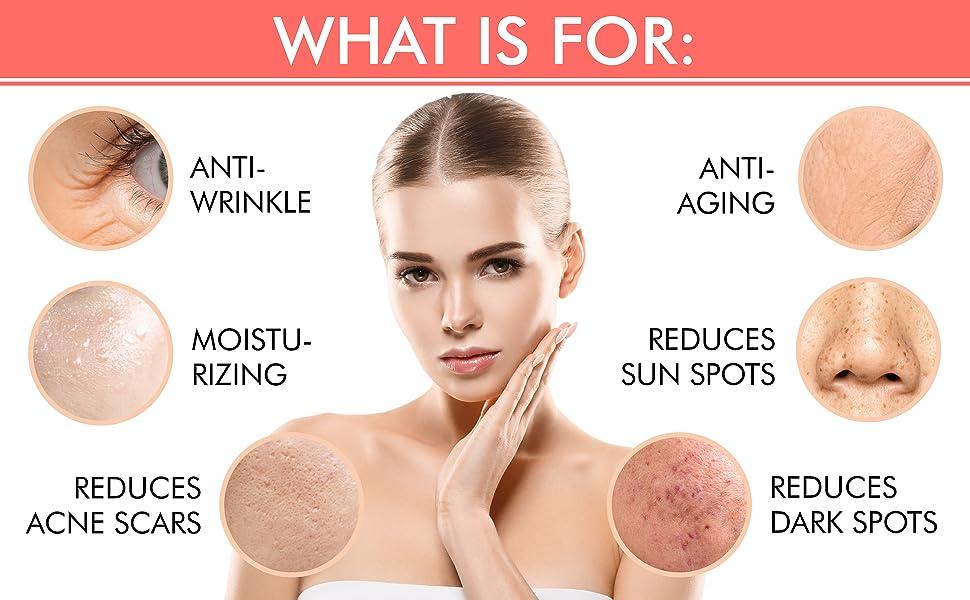 Retinol Cream Natural Moisturizer Vitamin Aloe Hyaluronic Face Neck Skin Care Best Anti Aging Wrinkl