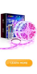 65ft 66ft 65.6ft led strip lights remote multicolor DIY colors bright 5050 LED lights RGB for home