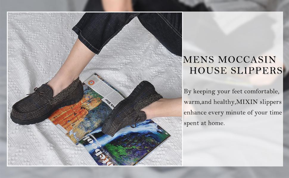 slippers for men moccasins black brown