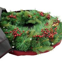 Large opening wreath storage bag
