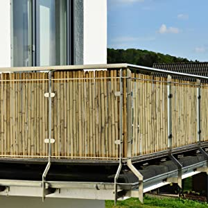 Bambuszaun Balkon
