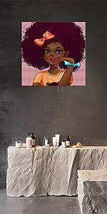 African Woman Wall Art Decor