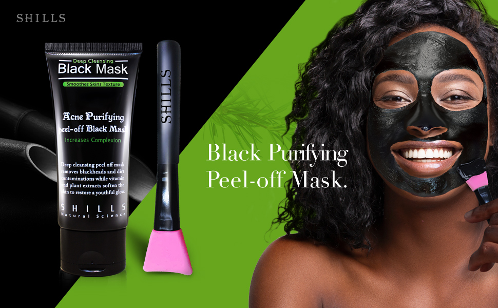 SHILLS PURIFYING PEEL OFF BLACK MASK REMOVES BLACKHEADS AND PREVENTS ACNE!