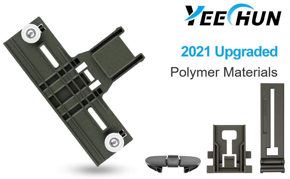 YEECHUN Upgraded Polymer Material W10350375 Dishwasher Top Rack Adjuster & W10195840 Dishwasher