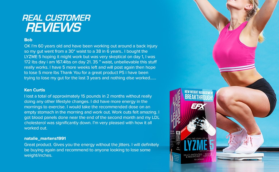 Real customer reviews show users love Lyzme 5 for fat loss results