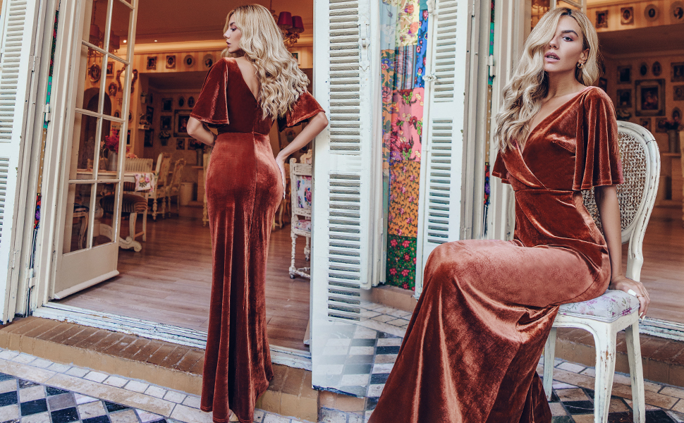 mermaid dress fishtail party dress velvet party dress