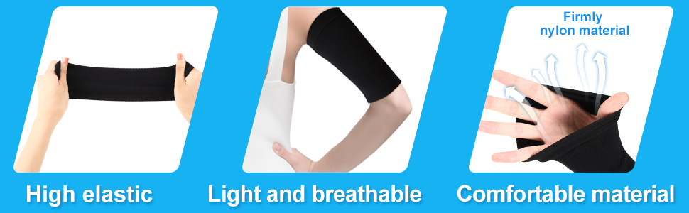 4 Pairs Slimming Arm Sleeves Arm Elastic Compression Arm Shapers Sport Fitness Arm Shapers for Women Girls Weight Loss (Black and Nude Color) 12