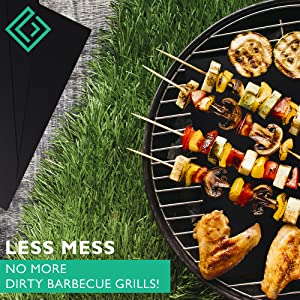 Less mess no more dirty barbecue grills
