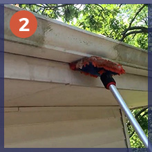 wipe microfiber extension pole not included ground clean gutter siding cleaning