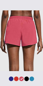 "women 3"" running shorts"