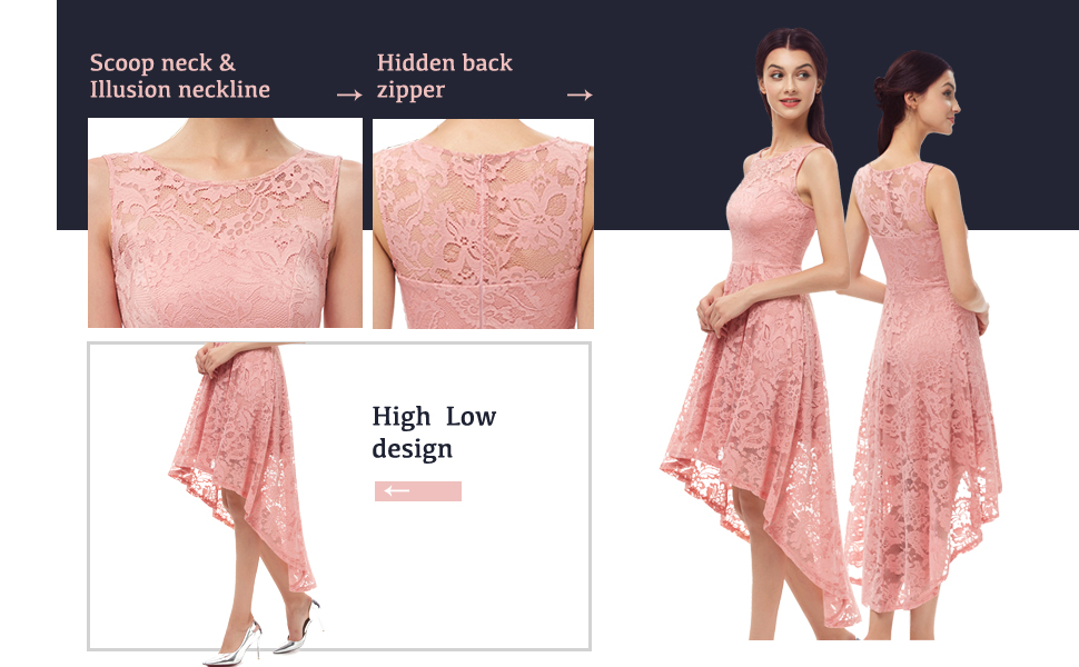 floral lace cocktail formal dresses