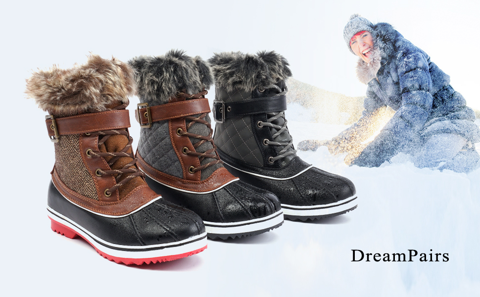 Mid Calf Winter Snow Boots
