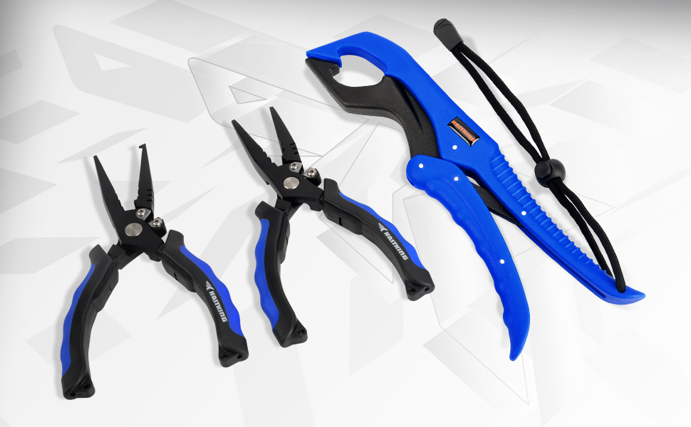 Floating Lip Grip, Teflon Coated Steel Pliers, Multi-Function Fishing Tools, Freshwater Fishing Gear