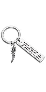love is in heaven keychain