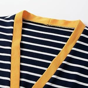 striped cardigan sweater for women
