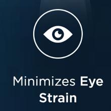 minimize eye strain