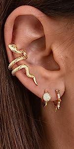 spike huggie earrings stud