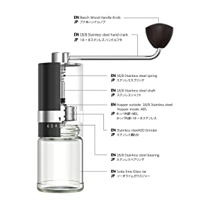 BURR steel hand coffee grinder