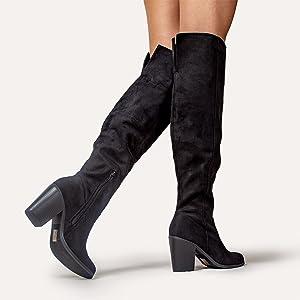 avalon, knee high boots, boots, heeled boot, jadams