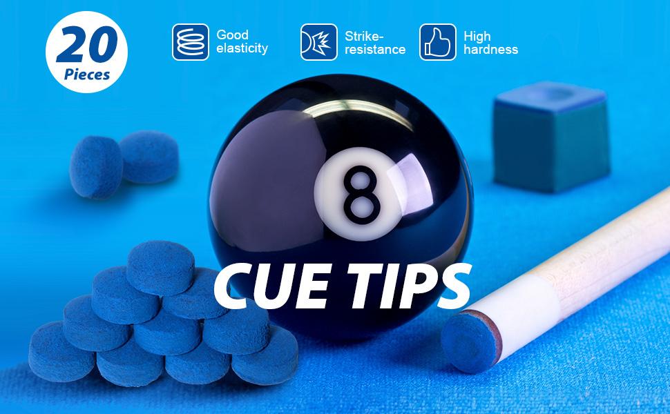 HomeDecTime 50pcs Premium Snooker Pool Billard Cue Tips 9mm 10mm 13mm Leather Cue Tip