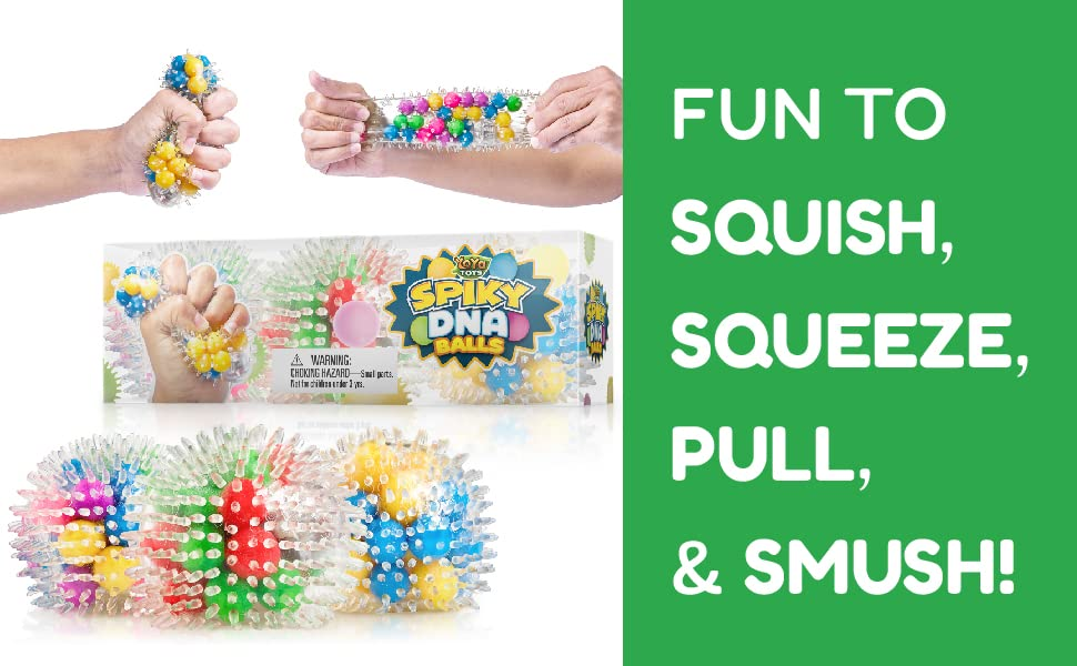 Fun to squish, squeeze, pull and smush!