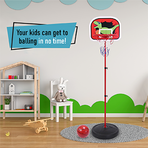toddlers basketball toy set