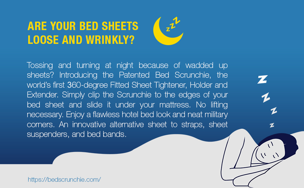 360 Grad Bettlakenspanner Bed Scrunchie Bettlakenhalter verst/ärkte Fallschirmschnur robuste Greifklammern