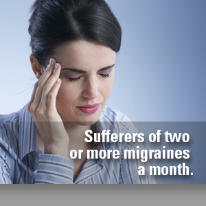 suffering two or more migraines a month
