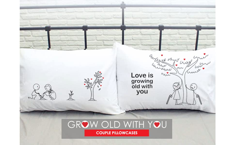 couples gifts couples pillowcases for her gifts girlfriend wife anniversary 2 year cotton wedding