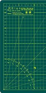 Elan Tapis de Découpe A3 Vert