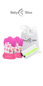 Teething Mittens for Baby Girls