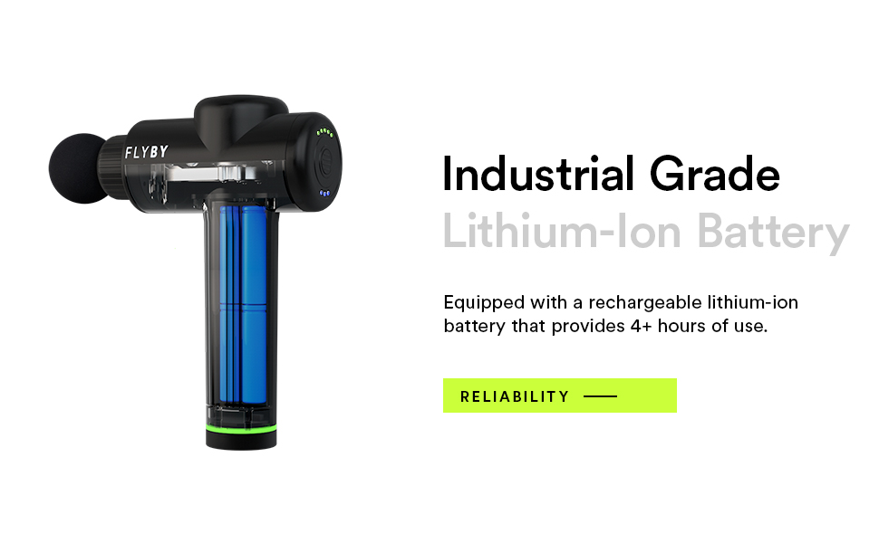 Flyby Lithium-Ion Battery, 4+ hours of use, rechargeable