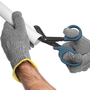 scissors cutting pvc pipe
