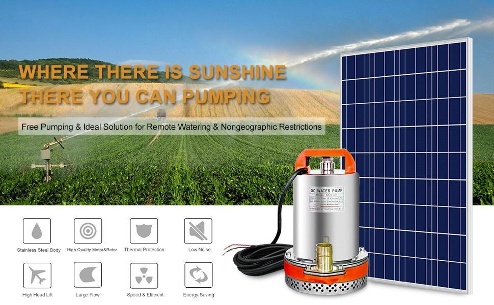 well pump pond pump solar water pump irrigation pump solar pump 12v submersible pump solar pond pump