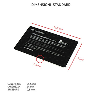 RFID card per portafoglio