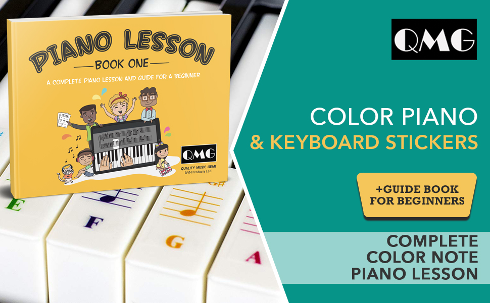 Color Piano sticker and Book