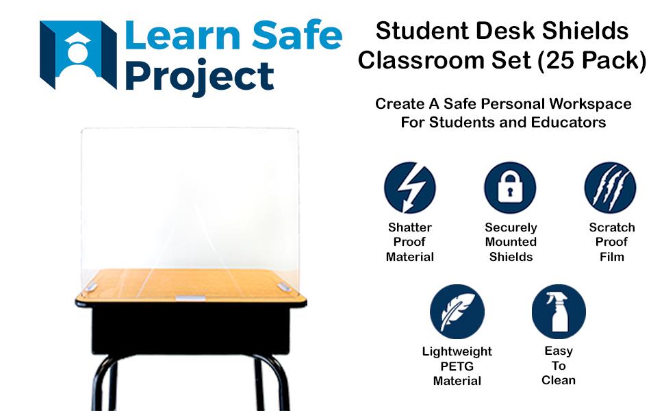 Student Desk Shield Features