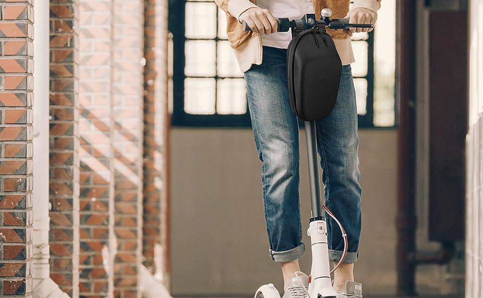 LIDIWEE Bolsa Colgante Frontal Bolsa de Almacenamiento para Manillar de Scooter El/éctrico Organizador Impermeable Multiprop/ósito Eva Duradero Gran Capacidad para Cargar Herramientas de Carga