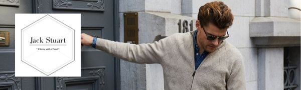 Maglione con Scollo a V a Maniche Lunghe in Cotone 100/% Stile Casual Elegante per Uomo Jack Stuart
