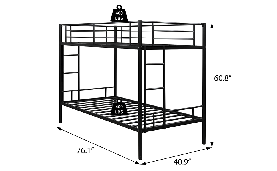 heavy duty bunk beds for kids adults black