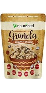 Coconut Cashew Keto Granola