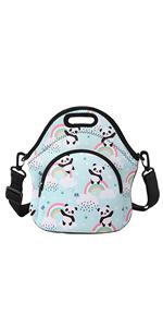 Rainbow Panda Lunch Bag